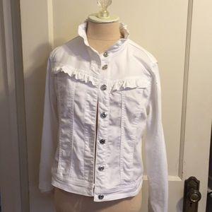 Kenzie white denim jacket